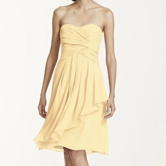 d4553915fd35 David's Bridal Dresses | Davids Bridal Short Crinkle Chiffon ...